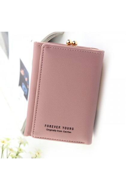 WLF076 Forever Young Foldable Trendy Short Wallet