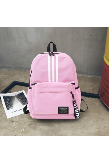 BG429 Unisex College Student Style Canvas School Backpack