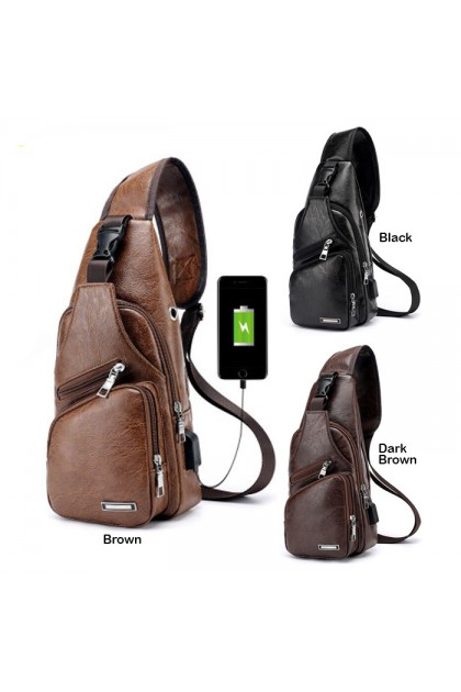 SK519 Sport And Leisure Usb Charging Chest Cross Body Bag